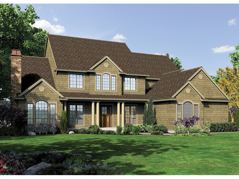 Colonial House Plan Front Image -  011S-0159 | House Plans and More