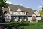 Colonial House Plan Front of Home -  011S-0159 | House Plans and More