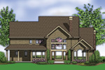Colonial House Plan Color Image of House -  011S-0159 | House Plans and More