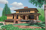 Waterfront House Plan Front of Home -  011S-0160 | House Plans and More