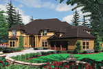 Luxury House Plan Front of House 011S-0161