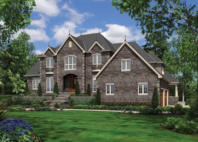 Luxury House Plan Front of Home -  011S-0163   House Plans and More