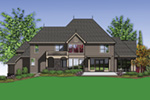 Luxury House Plan Color Image of House -  011S-0163   House Plans and More