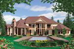 European House Plan Color Image of House -  011S-0164 | House Plans and More