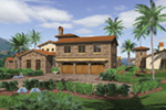 Mediterranean House Plan Front Photo 04 -  011S-0166 | House Plans and More