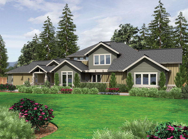 Craftsman House Plan Front of Home -  011S-0168 | House Plans and More
