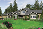 Prairie Style Floor Plan Front of Home -  011S-0168 | House Plans and More