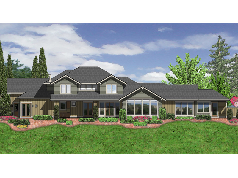Luxury House Plan Color Image of House -  011S-0168 | House Plans and More