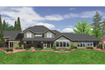 Prairie Style Floor Plan Color Image of House -  011S-0168 | House Plans and More