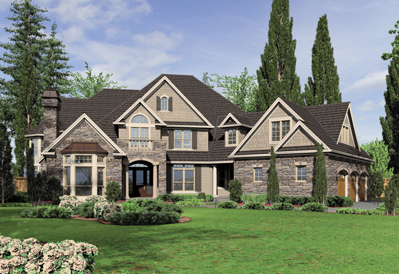European House Plan Front of Home -  011S-0172 | House Plans and More