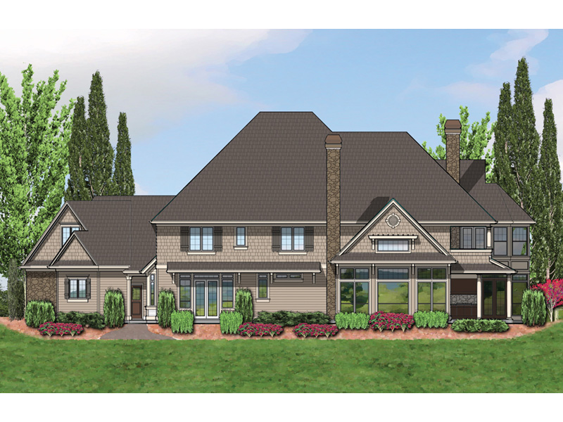 European House Plan Color Image of House -  011S-0172 | House Plans and More