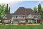 Luxury House Plan Color Image of House -  011S-0172 | House Plans and More