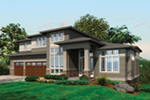 Contemporary House Plan Front of House 011S-0174