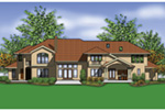 Beach & Coastal House Plan Rear Photo 01 -  011S-0176 | House Plans and More