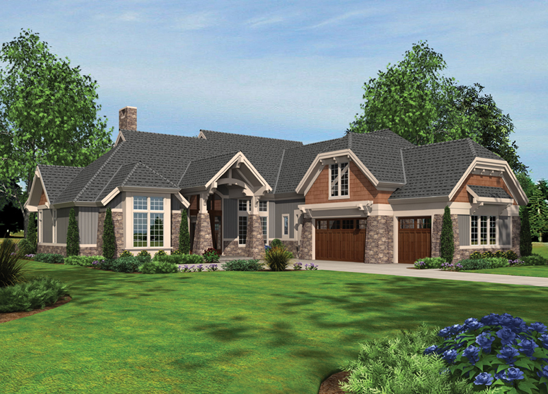 Cabin & Cottage House Plan Front of Home -  011S-0181 | House Plans and More