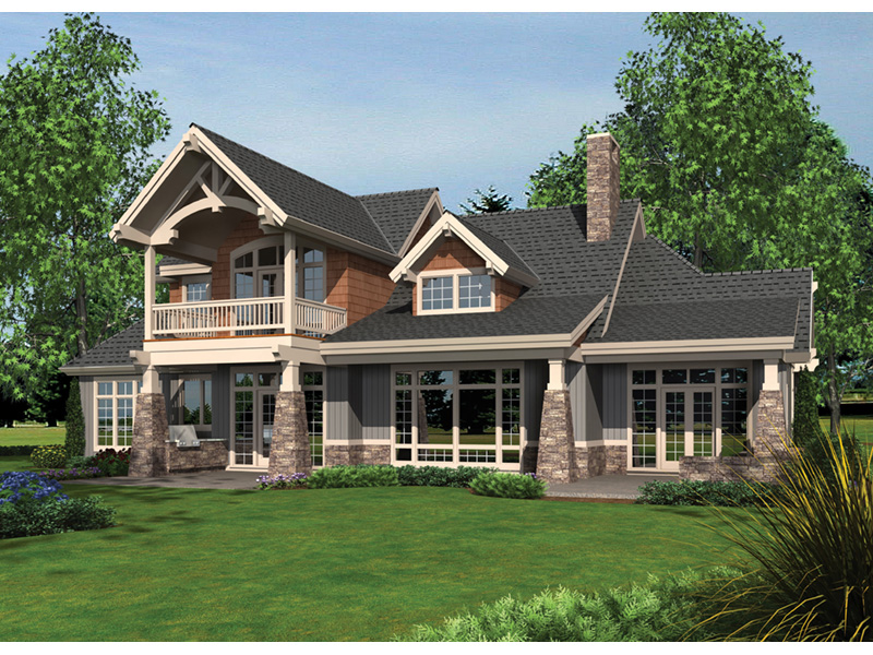 Rustic Home Plan Rear Photo 01 -  011S-0181 | House Plans and More
