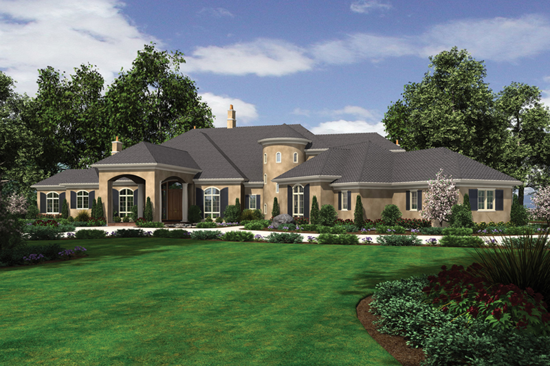 European House Plan Front of Home -  011S-0182 | House Plans and More