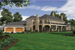 European House Plan Rear Photo 01 -  011S-0182 | House Plans and More