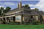 European House Plan Rear Photo 02 -  011S-0182 | House Plans and More