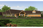 Luxury House Plan Front of House 011S-0183