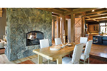 Rustic Home Plan Dining Room Photo 01 - Montelle Hill Luxury Home Plans with Two Master Suites