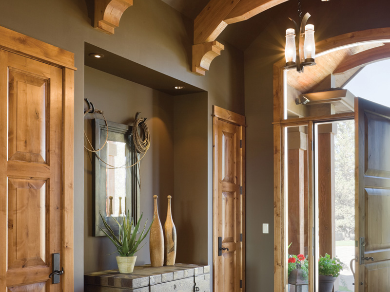 Rustic Home Plan Foyer Photo - Montelle Hill Luxury Home Plans with Two Master Suites