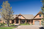 Rustic Home Plan Front of Home - Montelle Hill Luxury Home Plans with Two Master Suites