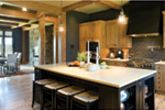 Rustic Home Plan Kitchen Photo 01 - Montelle Hill Luxury Home Plans with Two Master Suites