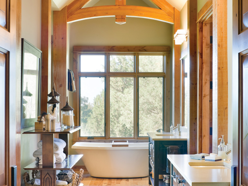 Rustic Home Plan Master Bathroom Photo 01 - Montelle Hill Luxury Home Plans with Two Master Suites