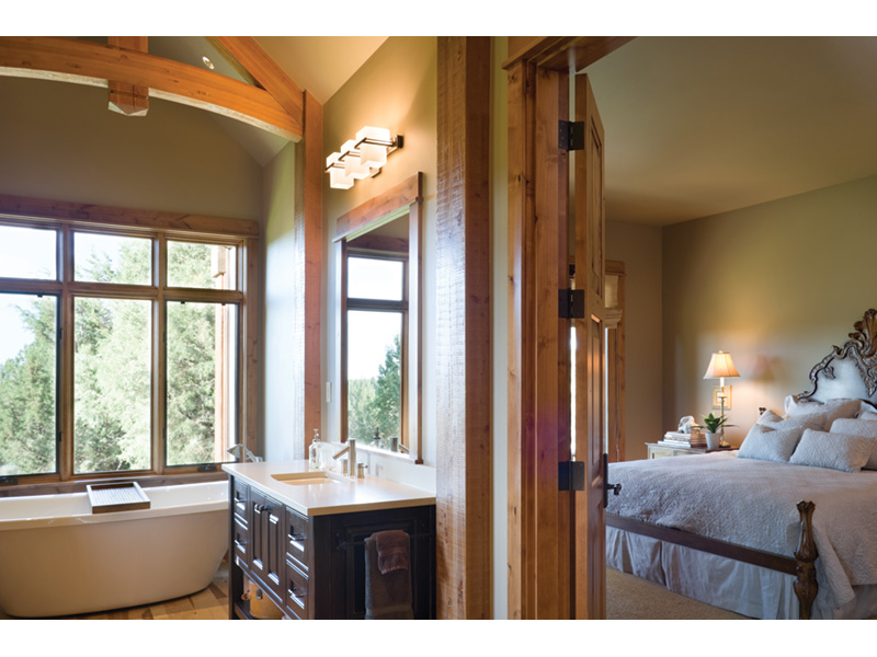 Rustic Home Plan Master Bathroom Photo 02 - Montelle Hill Luxury Home Plans with Two Master Suites
