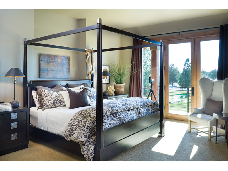Rustic Home Plan Master Bedroom Photo 01 - Montelle Hill Luxury Home Plans with Two Master Suites