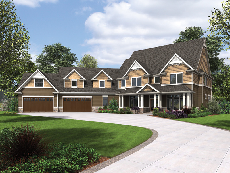 Luxury House Plan Front Image - Powers Hill Luxury Home 011S-0191 | House Plans and More