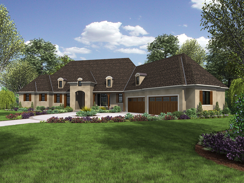 European House Plan Front of Home -  011S-0193   House Plans and More
