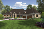 Luxury House Plan Front of House 011S-0193