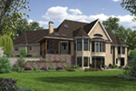 European House Plan Rear Photo 01 -  011S-0193   House Plans and More