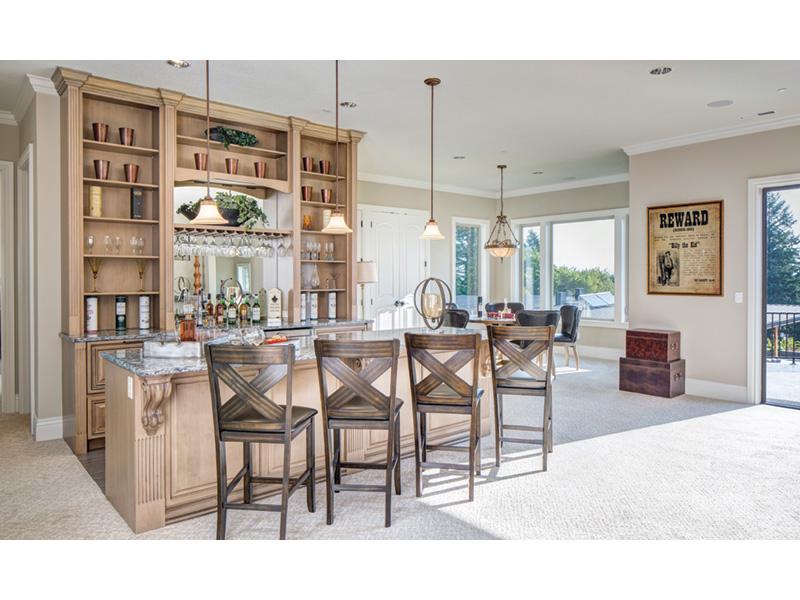 Shingle House Plan Bar Photo 01 - Rainier Bay Luxury Home 011S-0195 | House Plans and More