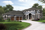 Prairie Style Floor Plan Front of Home - Rainier Bay Luxury Home 011S-0195 | House Plans and More