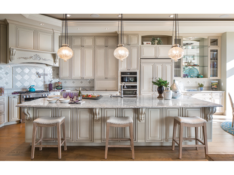 Shingle House Plan Kitchen Photo 01 - Rainier Bay Luxury Home 011S-0195 | House Plans and More