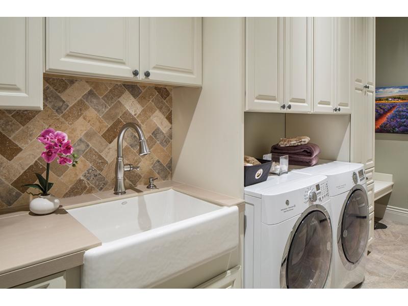Shingle House Plan Laundry Room Photo 01 - Rainier Bay Luxury Home 011S-0195 | House Plans and More