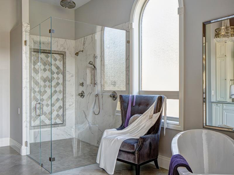 Shingle House Plan Master Bathroom Photo 01 - Rainier Bay Luxury Home 011S-0195 | House Plans and More