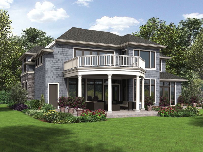 Prairie Style Floor Plan Rear Photo 01 - Rainier Bay Luxury Home 011S-0195 | House Plans and More