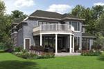 Shingle House Plan Rear Photo 01 - Rainier Bay Luxury Home 011S-0195 | House Plans and More