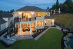 Shingle House Plan Rear Photo 02 - Rainier Bay Luxury Home 011S-0195 | House Plans and More