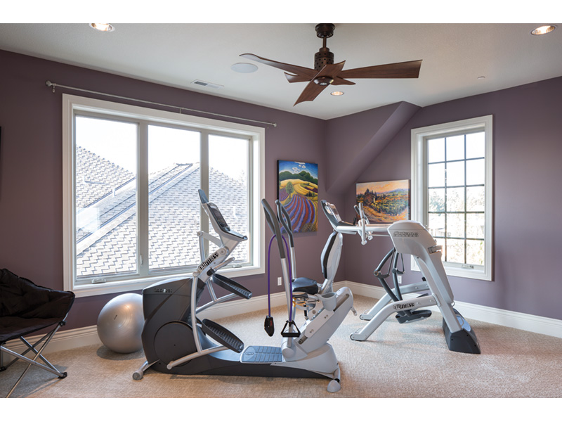 Shingle House Plan Workout Room Photo - Rainier Bay Luxury Home 011S-0195 | House Plans and More