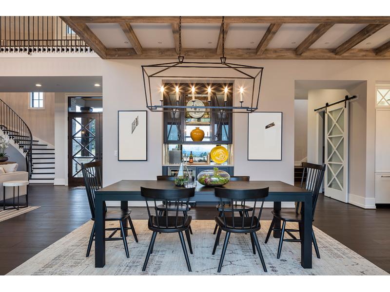 Luxury House Plan Dining Room Photo 02 - Asbury Park Luxury Home  011S-0196 | House Plans and More