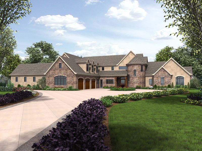 Luxury House Plan Front Image - Asbury Park Luxury Home  011S-0196 | House Plans and More