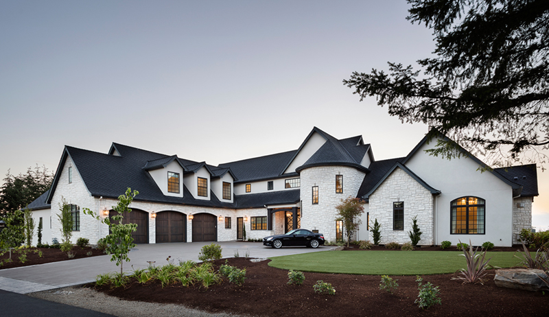 Luxury House Plan Front of Home - Asbury Park Luxury Home  011S-0196 | House Plans and More