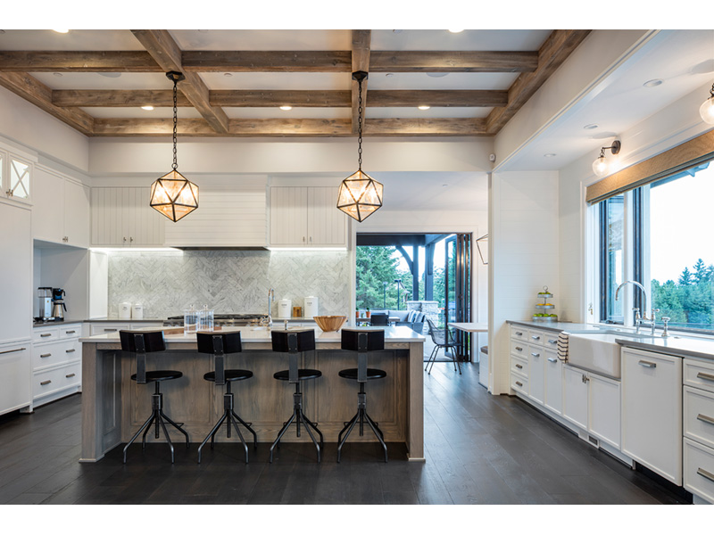 Luxury House Plan Kitchen Photo 07 - Asbury Park Luxury Home  011S-0196 | House Plans and More