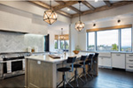 Luxury House Plan Kitchen Photo 08 - Asbury Park Luxury Home  011S-0196 | House Plans and More