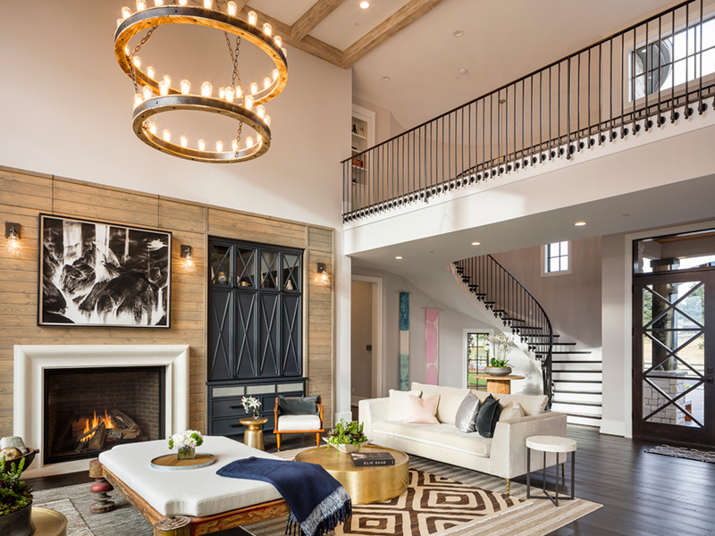 Luxury House Plan Living Room Photo 01 - Asbury Park Luxury Home  011S-0196 | House Plans and More
